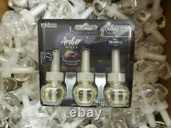 100 Glade PlugIns Scented Oil Refills DEEP AMBER HILLS Holiday Lim. Collection
