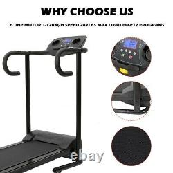 1100W Folding Treadmill With Device Holder, Shock Absorption And Incline USA