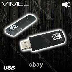 20 hours Voice Recorder USB Flash Drive Listening Device Activated