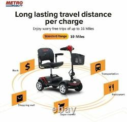 4 Wheel Mobility Scooter Fold Electric Powered Wheelchair Device Travel Elder