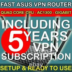 5 Years Vpn Service And Fast Vpn Router With Protect Your Privacy And Devices