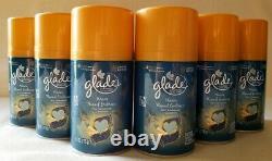 9 Glade AUTOMATIC SPRAY REFILLS Warm Flannel Embrace Fern Sandalwood Aerosol New