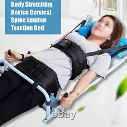Body Stretching Device Cervical Spine Lumbar Traction Bed Therapy Massage Tool