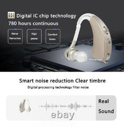 Hearing Amplifier (BTE)In The Ear, Invisible Voice mini digital USA ship NEW