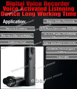 Listening Device Digital Voice Recorder Activated Long Recording