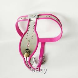 Male Chastity Belt Device KIT black with bra and extras, 8 Pcs, Pink