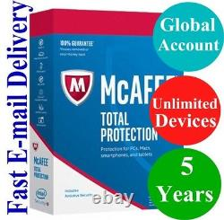 McAfee Total Protection UNLIMITED DEVICE / 5 YEAR (Account Subscription) 2021