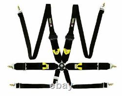 Monza Racing Harness 6 Point for Hans Device Fia / Cams Approved 2in & 3in