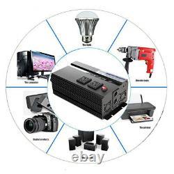 Power Inverter 2000W 4000 Watt 12V dc to 110V 120V ac car RV Rechargeable Device