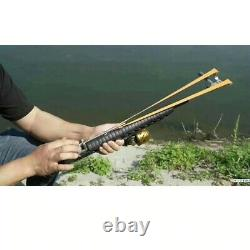 Powerful Slingshot Rifle shooting catapult outdoor hunting double safety device