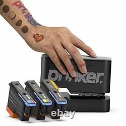 Prinker S Temporary Tattoo Device Package for Device with Black + Color Ink