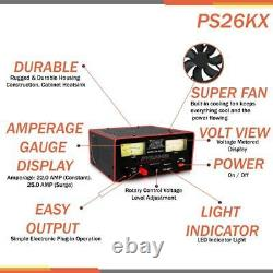 Pyramid PS26KX 25 Amp Power Supply Powers 615V DC Devices WithCooling Fan