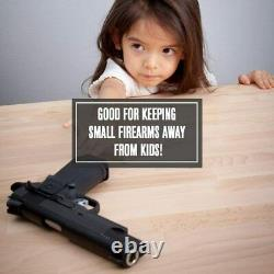 RPNB Gun Safe Mounted Firearm Safety Device with Biometric Fingerprint
