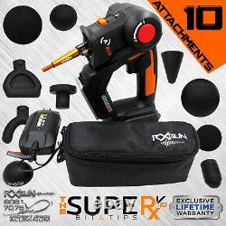 RxGUN SUPERx V10 Percussive Massager Vibrating Therapy Device Jigsaw Massage Gun