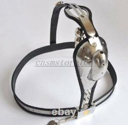 Stainless Steel Male Waist ARC Chastity Belt T Type Removable Plug Device D Ring