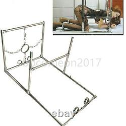 Stainless Steel Torture Bondage Heavy Device Spreader Bar Hand Ankle Cuffs SM
