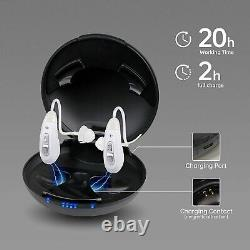 US 1Pair Invisible Hearing Amplifier Rechargeable Digital Sound Device HighPower