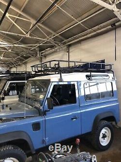 Urban Offroad Land Rover Row Defender 90 Nas Style Roof Rack Basket Crossbar