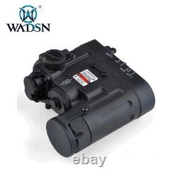 WADSN Tactical DBAL D2 Dual Color Laser LED White + IR Flashlight Device BLACK