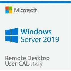 Windows Server Standard 2019 + Remote Desktop Services 50 User/Device RDS CALs