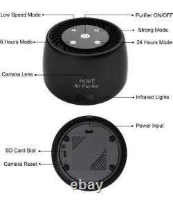 Wireless Home Hidden Air Purifier WIFI Camera IR Night Vision Device